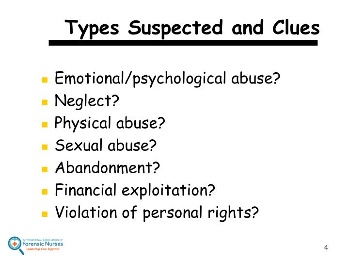 Types Suspected and Clues