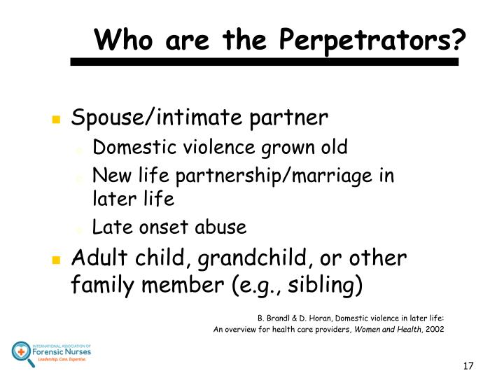 Who are the Perpetrators?