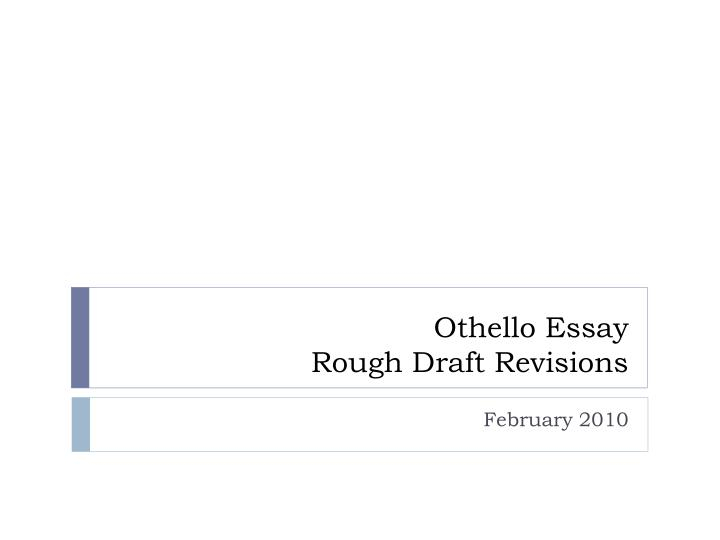 grade 12 othello essay questions