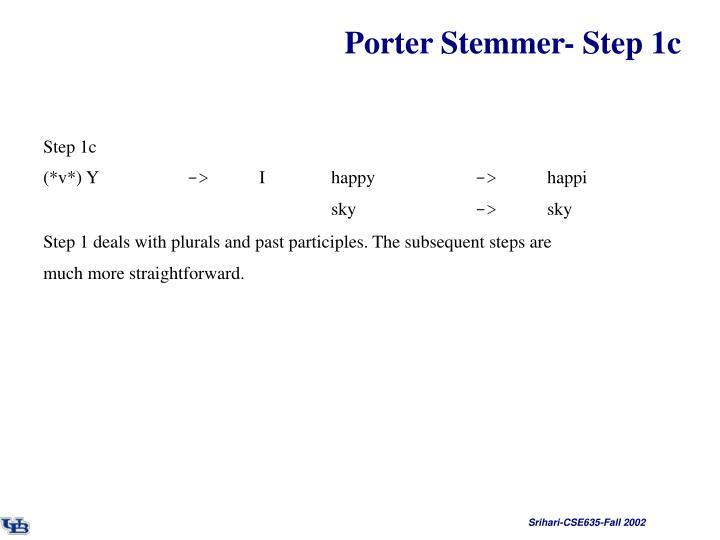Porter Stemmer- Step 1c