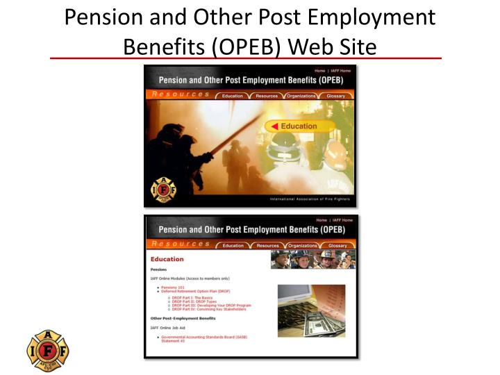 Pension and Other Post Employment Benefits (OPEB) Web Site