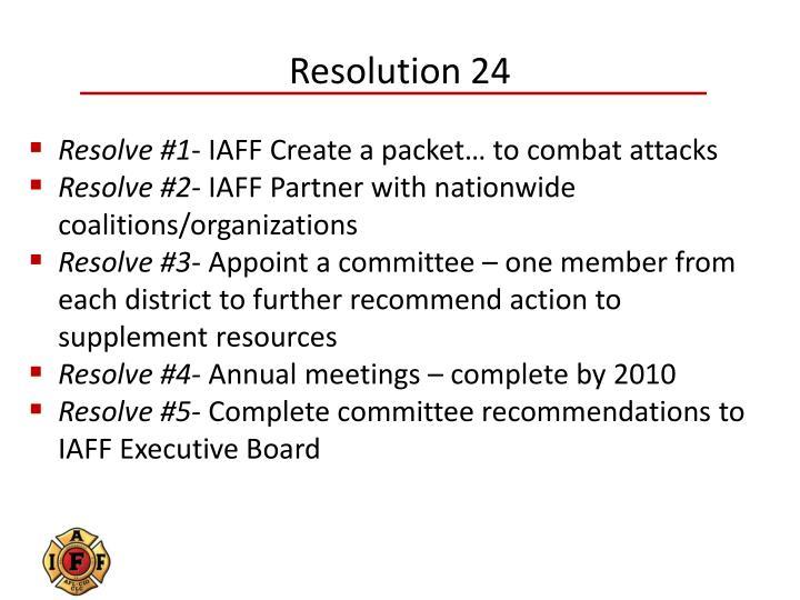 Resolution 24