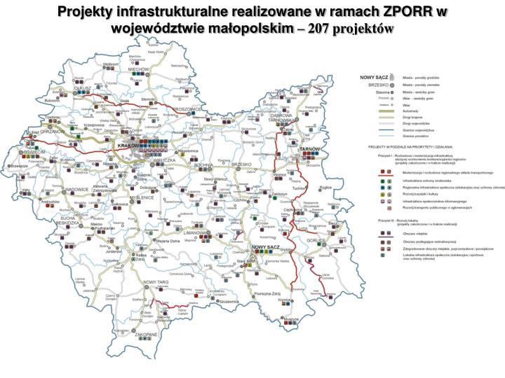 Projekty infrastrukturalne realizowane w ramach ZPORR w wojewdztwie maopolskim