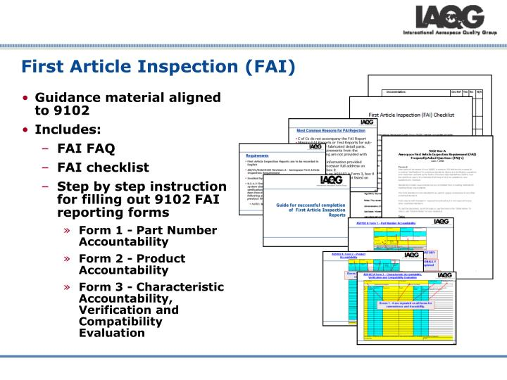 Aerospace first article inspection pictures to pin on for First article inspection procedure template
