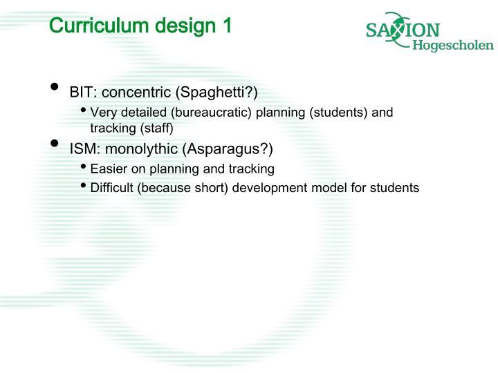 Curriculum design 1