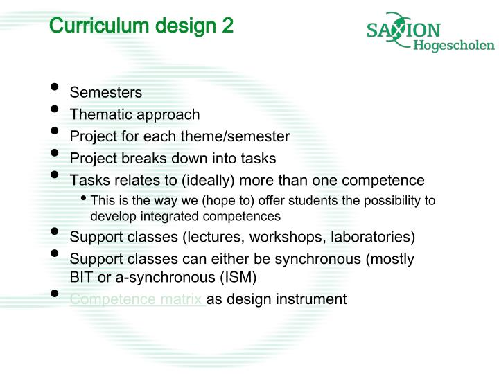 Curriculum design 2