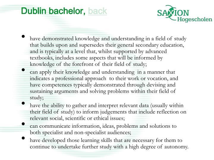 Dublin bachelor,