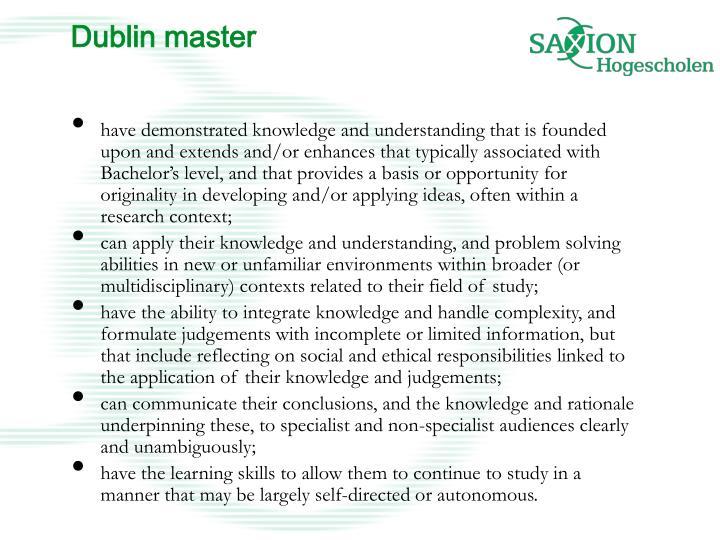 Dublin master