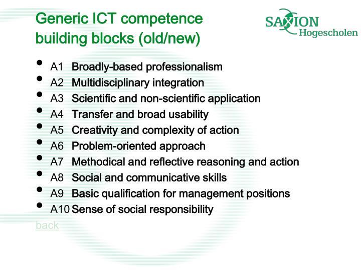 Generic ICT competence