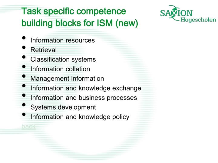 Task specific competence