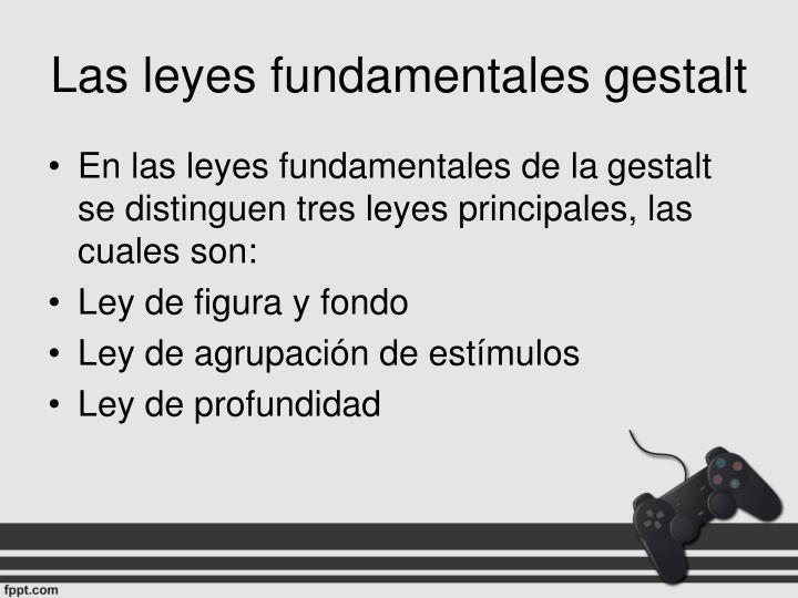 Las leyes fundamentales