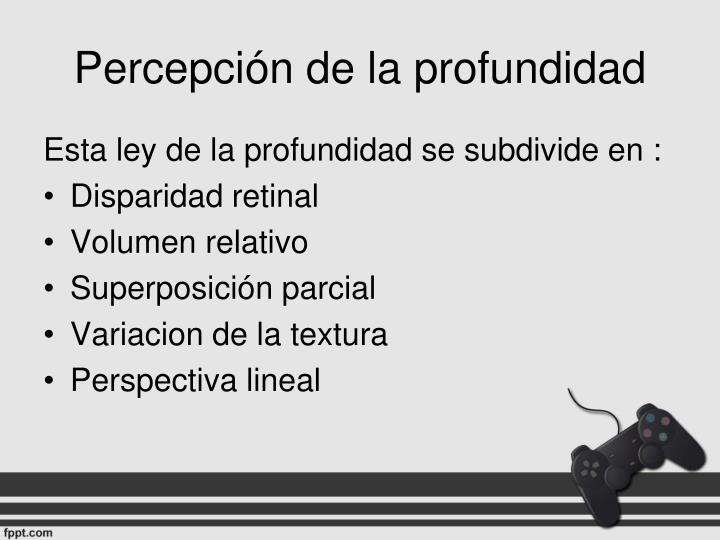 Percepción de la profundidad