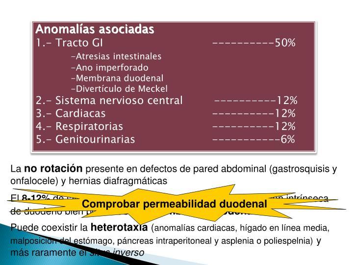 Anomalías asociadas