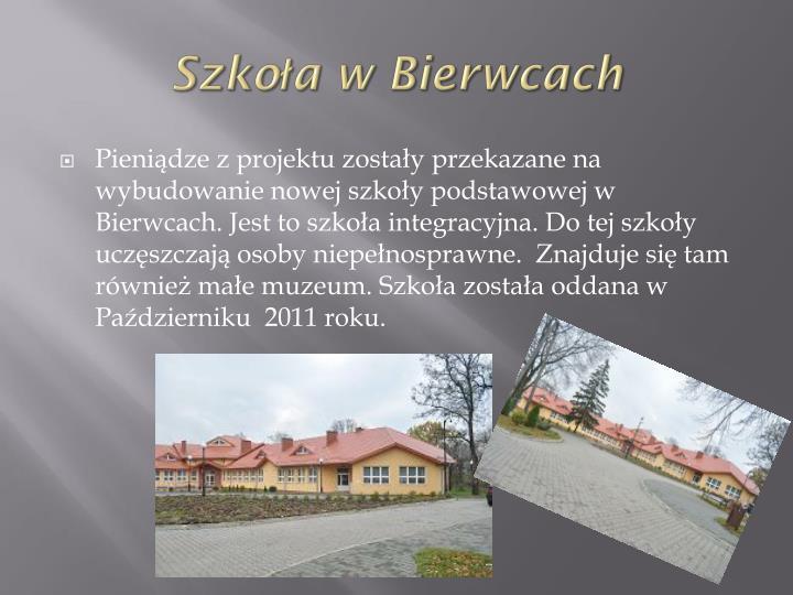 Szkoła w Bierwcach