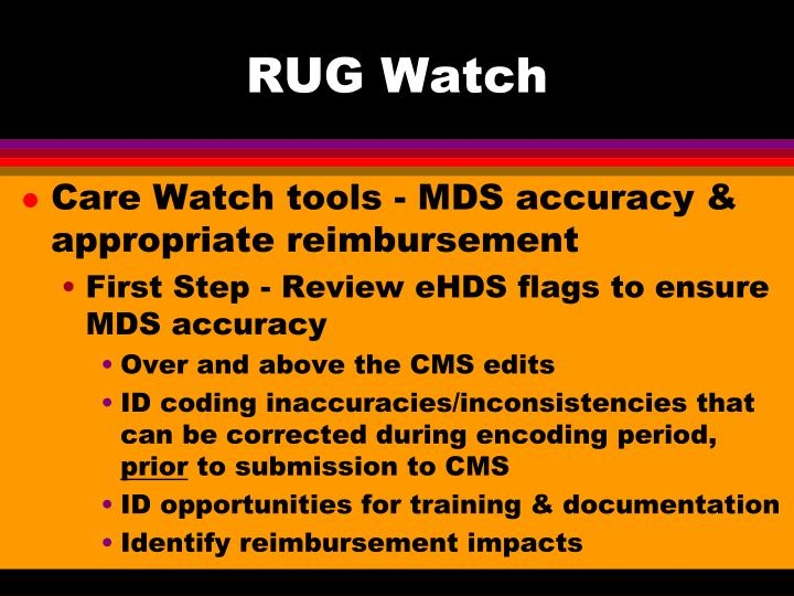 RUG Watch