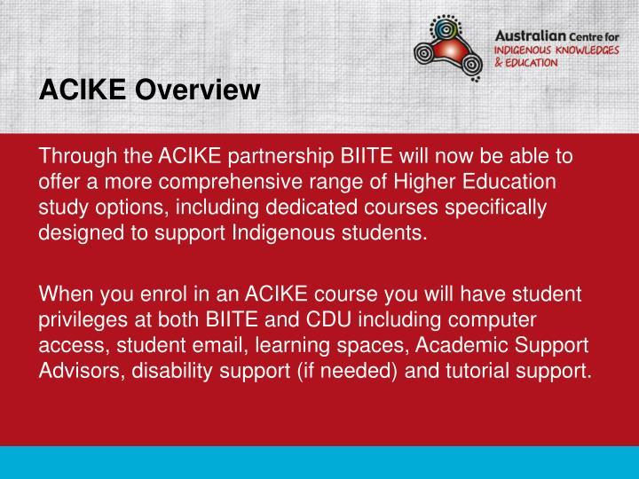 ACIKE Overview