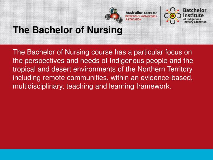 The Bachelor of Nursing