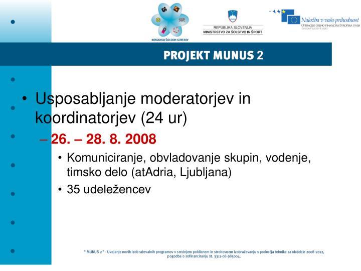 Usposabljanje moderatorjev in koordinatorjev (24 ur)
