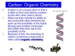 carbon organic chemistry