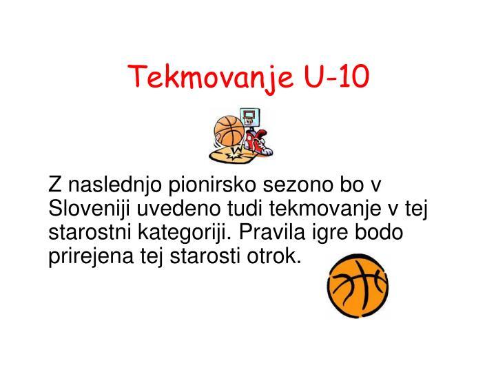 Tekmovanje U-10