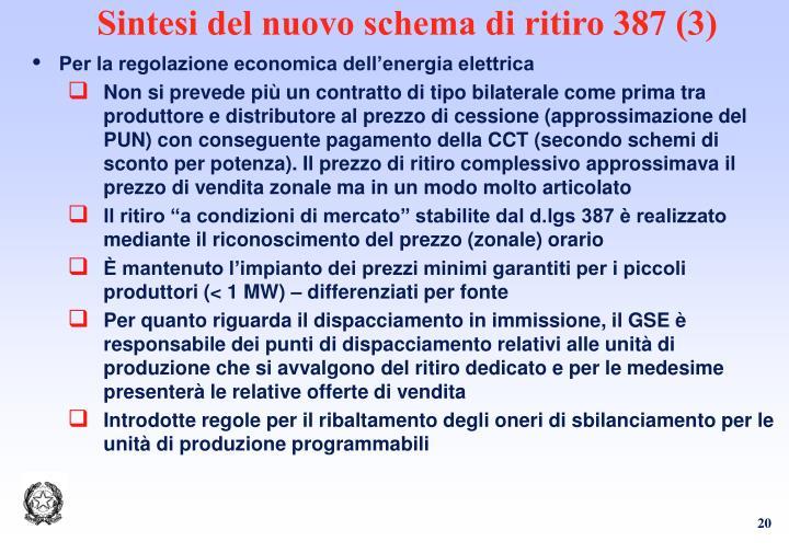 Sintesi del nuovo schema di ritiro 387 (3)