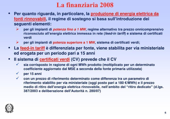 La finanziaria 2008