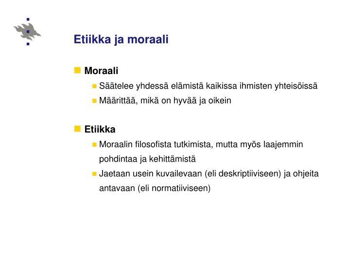 Etiikka ja moraali