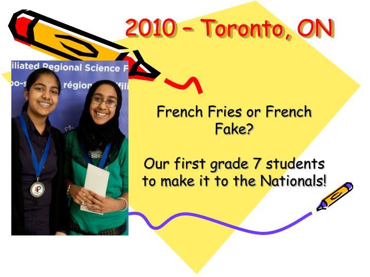 2010 – Toronto, ON