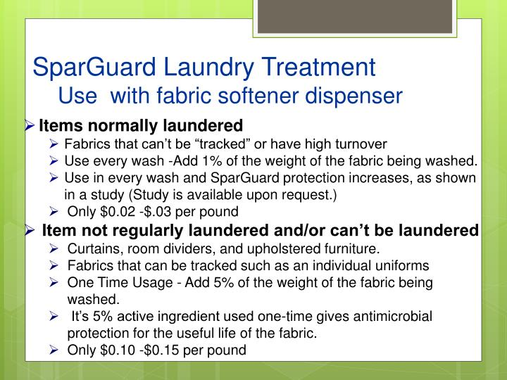 SparGuard Laundry Treatment
