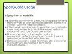 sparguard usage
