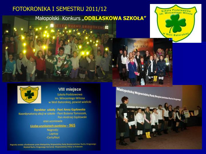 FOTOKRONIKA I SEMESTRU 2011/12