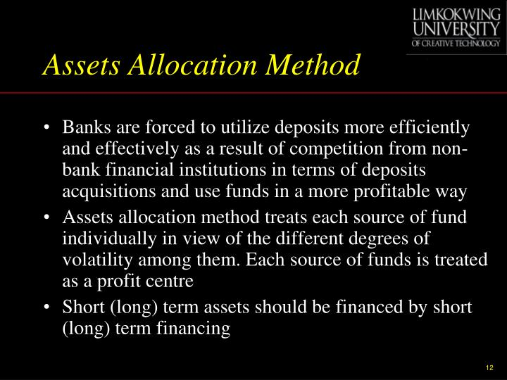 Assets Allocation Method