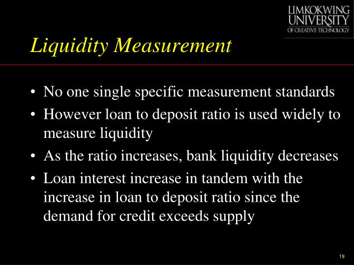 Liquidity Measurement