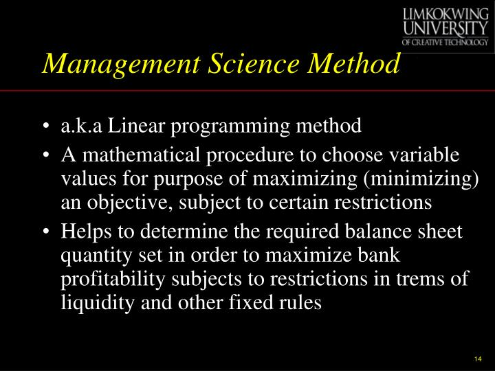 Management Science Method
