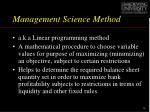 management science method