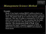 management science method1