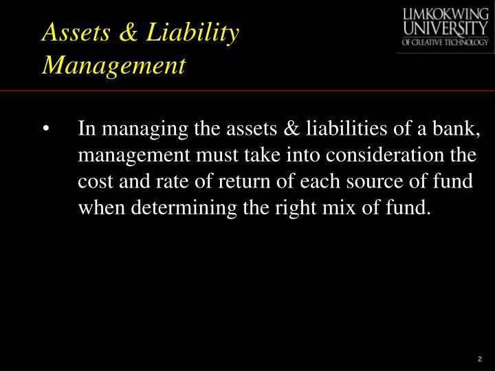 Assets & Liability