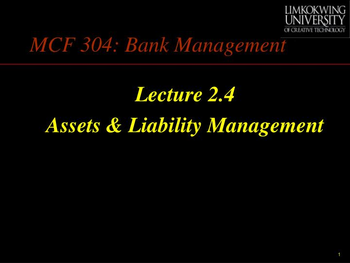 Mcf 304 bank management
