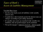 types of bank s assets liability management1