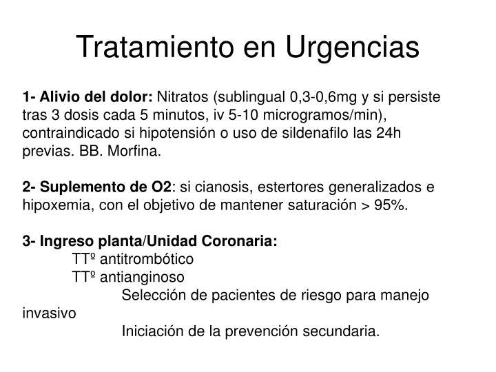 Tratamiento en Urgencias