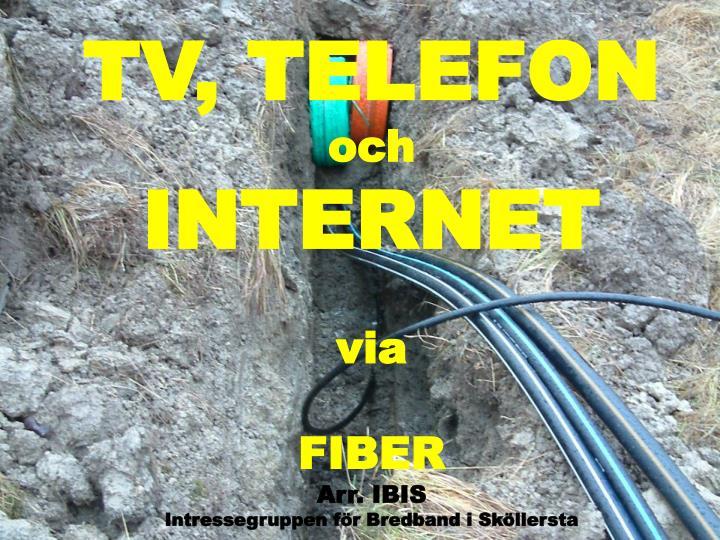 TV, TELEFON