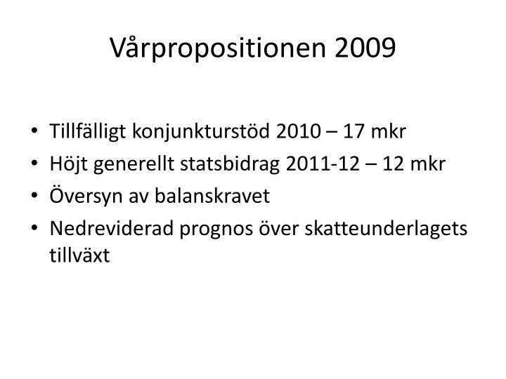 Vårpropositionen 2009