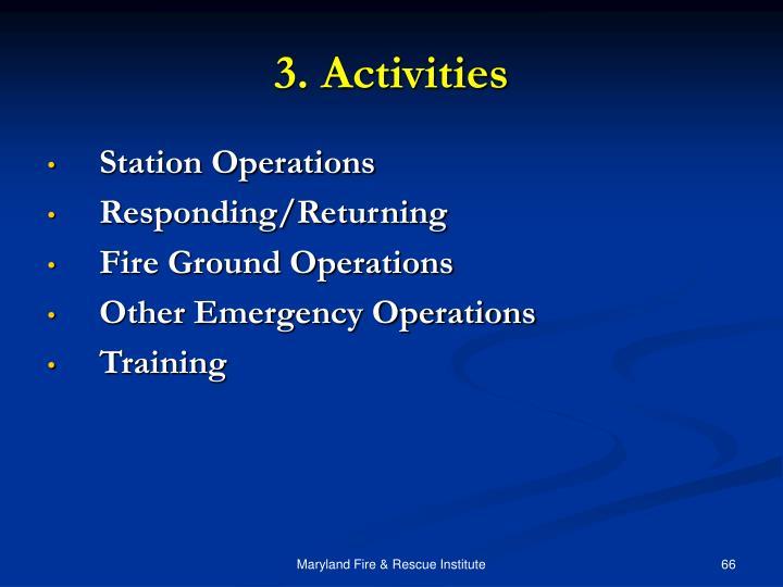 3. Activities