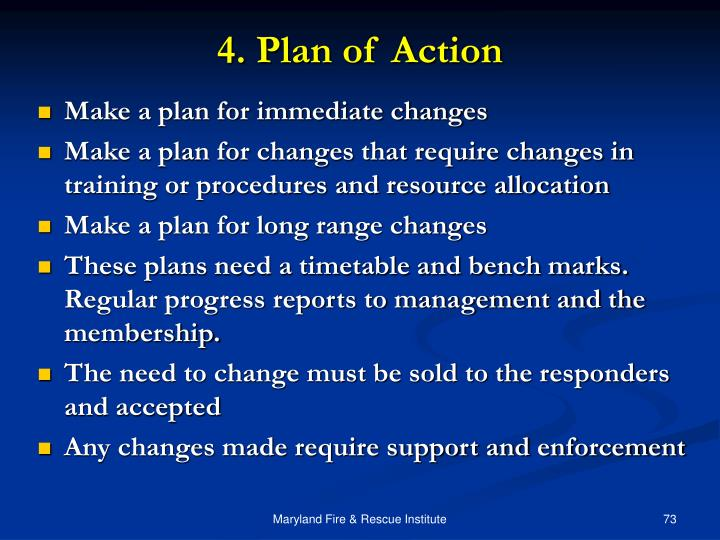 4. Plan of Action