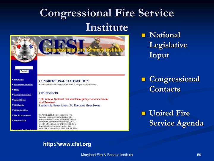 Congressional Fire Service