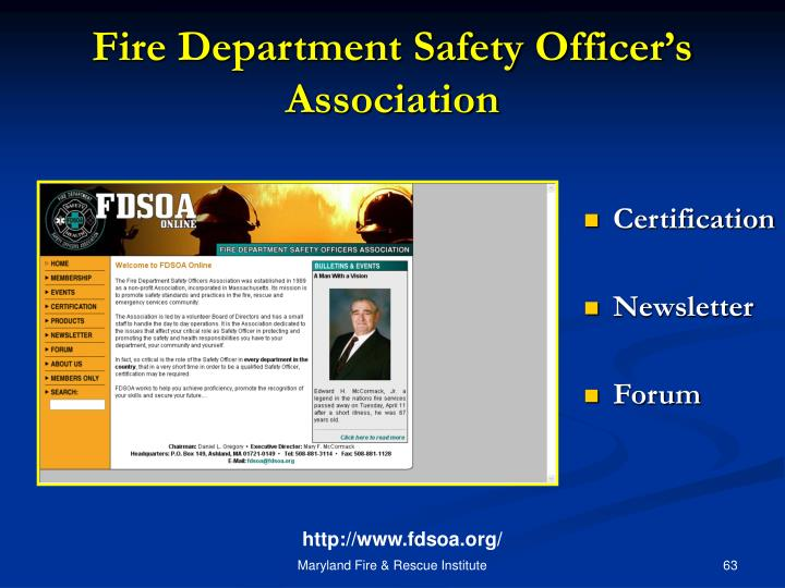 Fire Department Safety Officer's Association