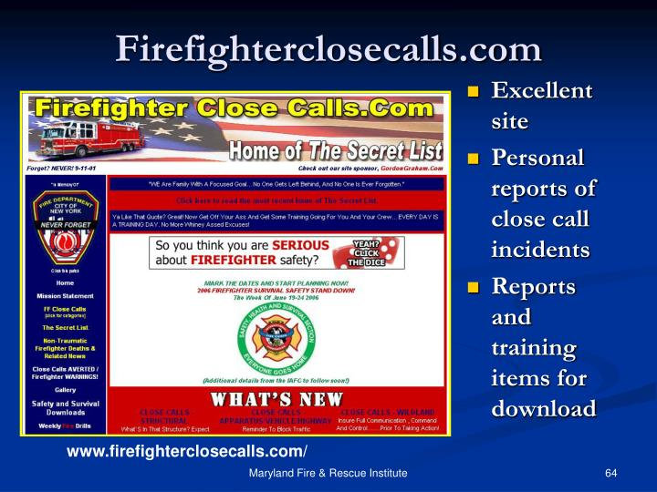 Firefighterclosecalls.com