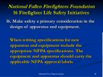national fallen firefighters foundation 16 firefighter life safety initiatives31