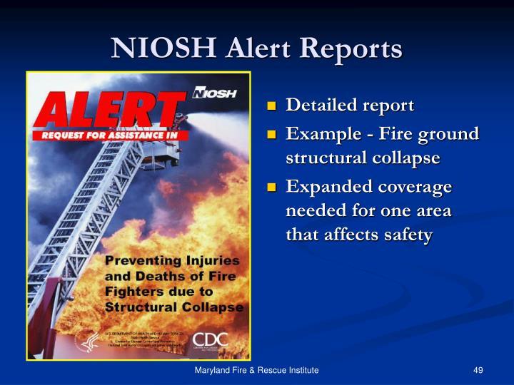 NIOSH Alert Reports