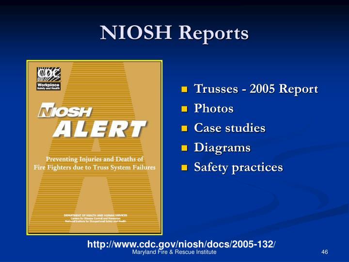 NIOSH Reports